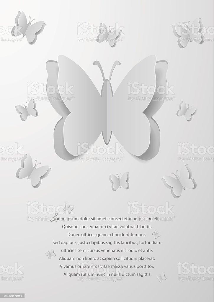 Paper cutout butterflies royalty-free stock vector art
