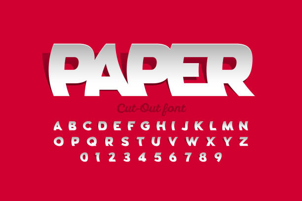 Paper cut-out style font