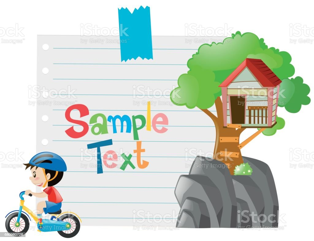 Paper design with boy on bike royalty-free paper design with boy on bike stock vector art & more images of art