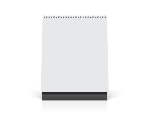illustrations, cliparts, dessins animés et icônes de modèle de papier bureau spirale calendrier maquette vector - ellen page