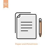 istock Paper Document and Pencil Icon Vector Design. 1215984412