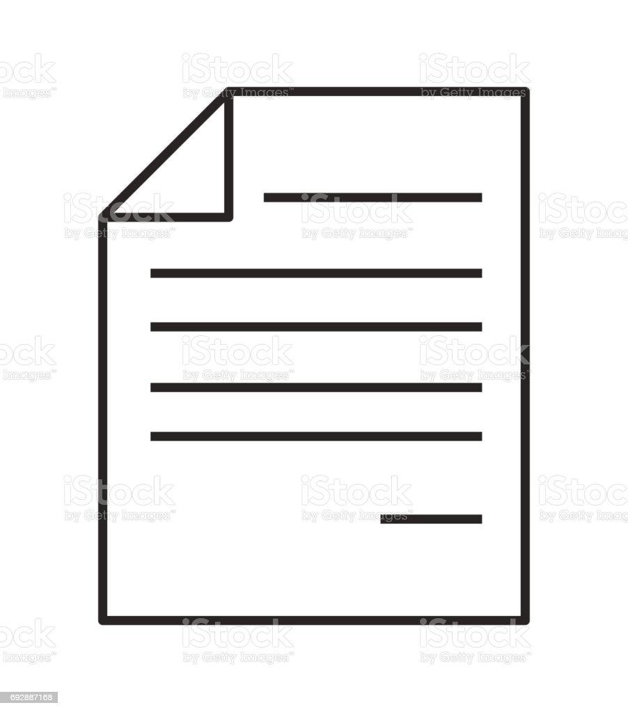 dossier de document papier avec corne ic u00f4ne vecteur