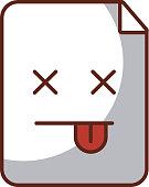 paper document kawaii character