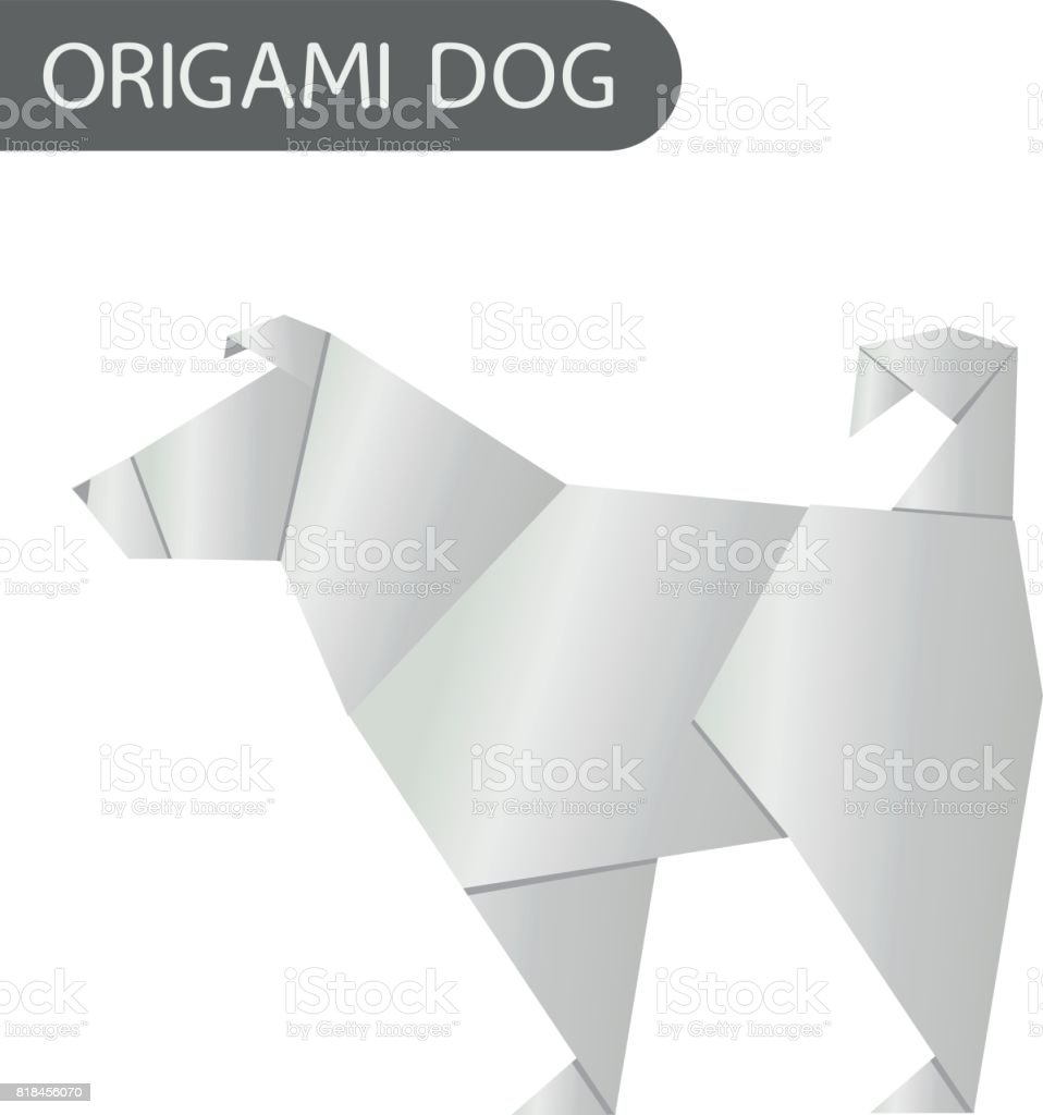 Paper dog in origami style vector icon 2018 new year symbol stock paper dog in origami style vector icon 2018 new year symbol royalty free paper jeuxipadfo Gallery