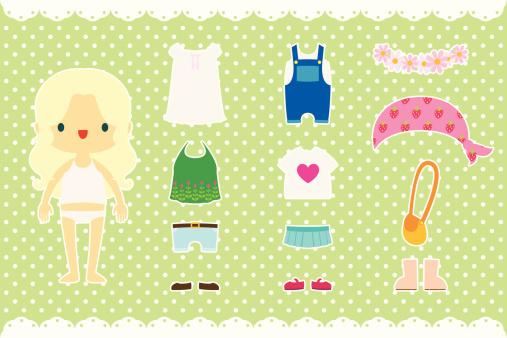 Paper Doll - Spring Stuff