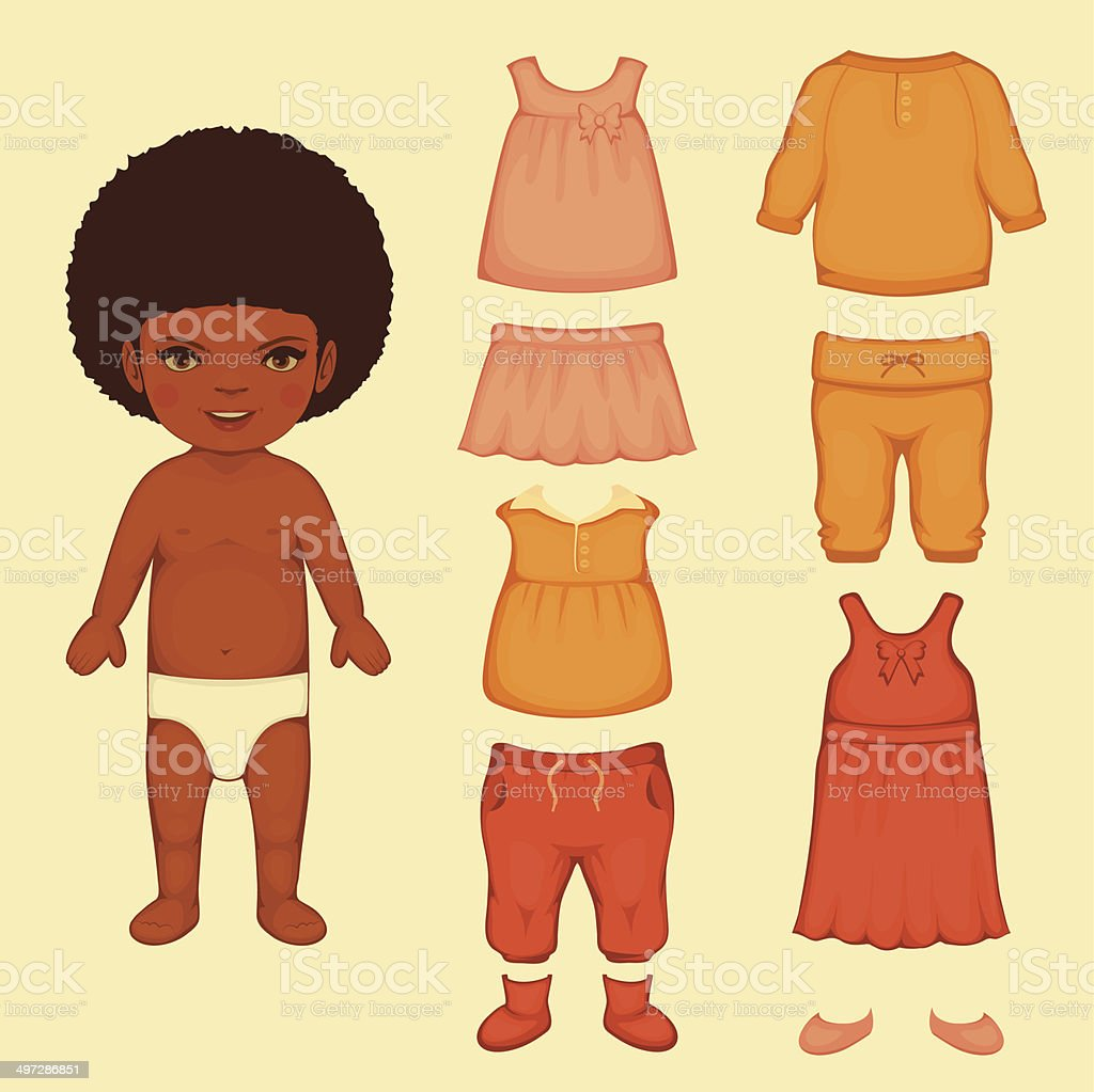 paper doll royalty-free stock vector art