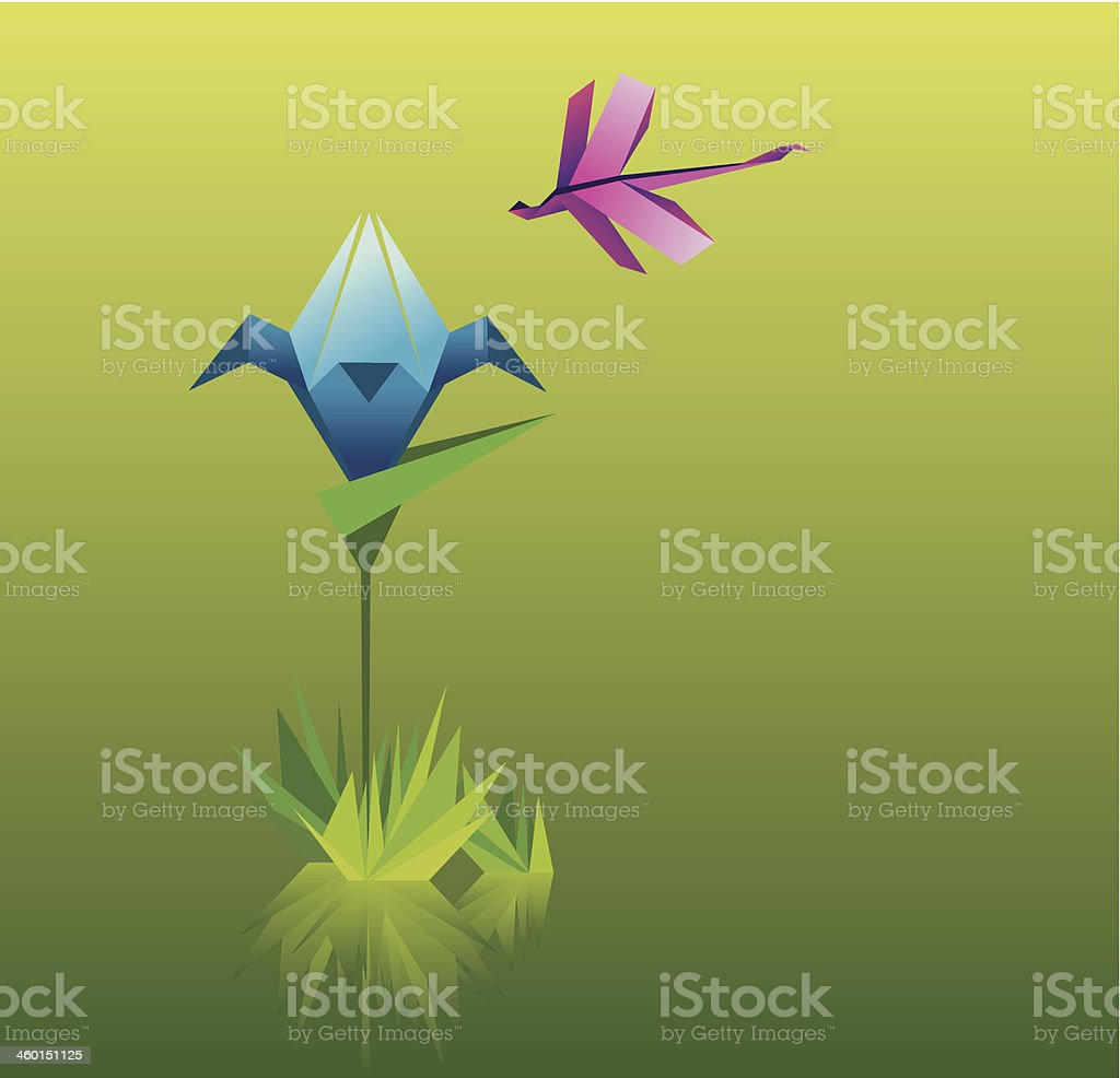 Paper dragonfly stock vector art 460151125 istock paper dragonfly royalty free stock vector art jeuxipadfo Image collections
