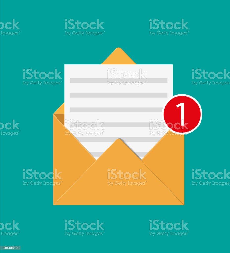 Papier Umschlag mit Gegendarstellung schreiben. - Lizenzfrei Ankündigung Vektorgrafik
