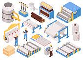 Paper Factory Isometric Set