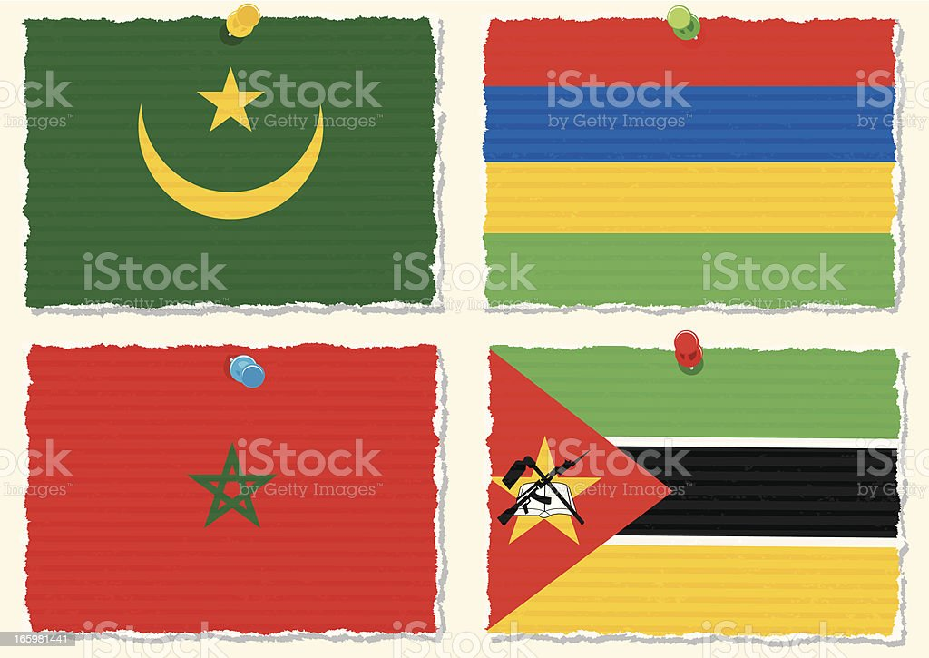 Paper Flags royalty-free paper flags stock vector art & more images of africa