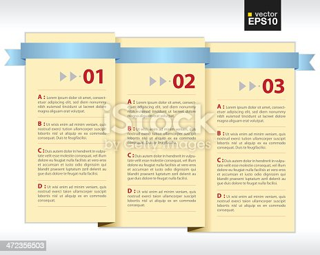 paper folded banner with ribbon stock vector art 472356503 istock
