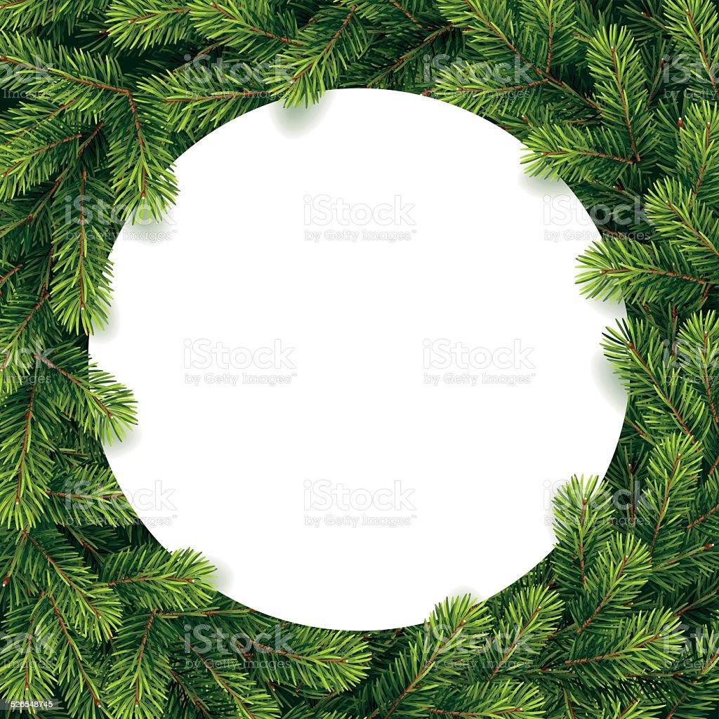 Papier für Weihnachten Liste auf einer Kiefer Zweige – Vektorgrafik