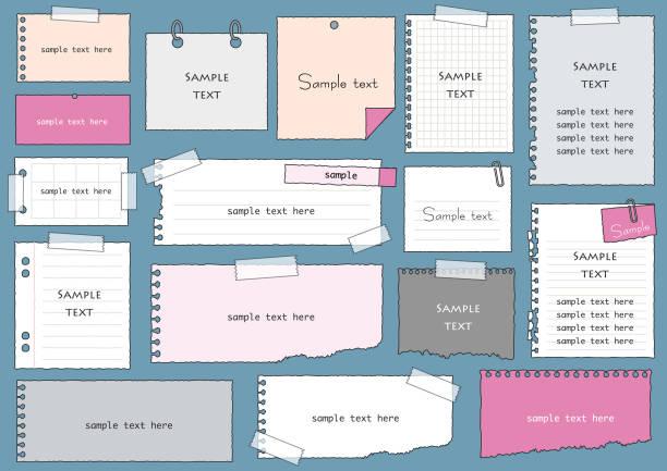 紙フレーム set3 - メモ点のイラスト素材/クリップアート素材/マンガ素材/アイコン素材