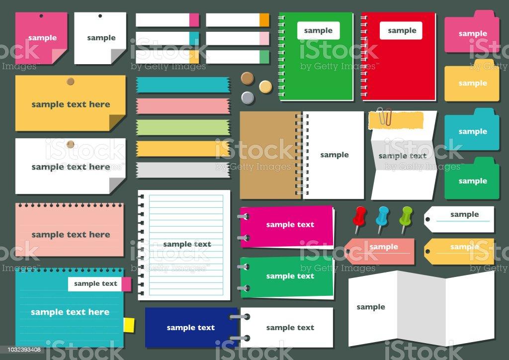 紙フレーム set4 - アイコンセットのロイヤリティフリーベクトルアート