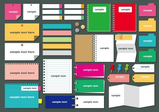 紙フレーム set4 - メモ点のイラスト素材/クリップアート素材/マンガ素材/アイコン素材