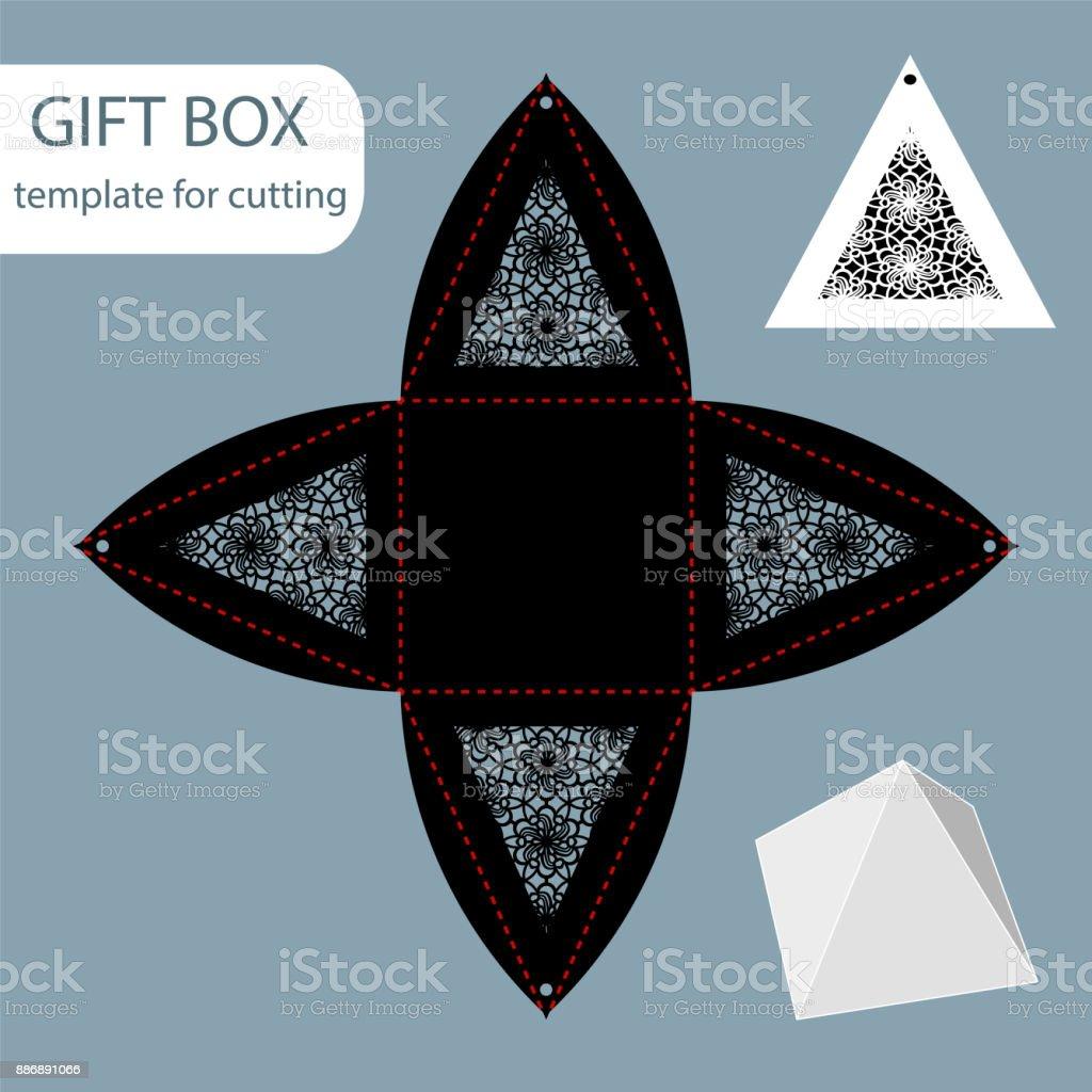 Triangular Gift Box Template from media.istockphoto.com