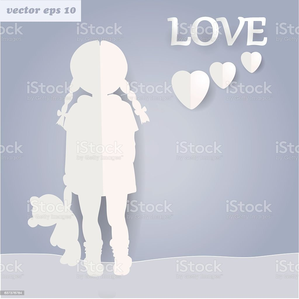 paper girl - Illustration vectorielle