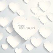 Blank hearts background, design illutration.