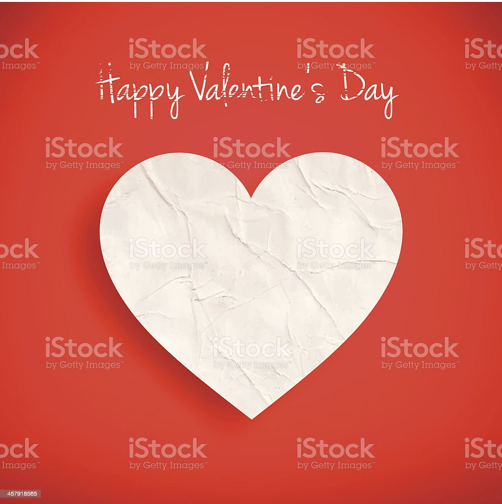 Paper heart Background royalty-free paper heart background stock vector art & more images of abstract
