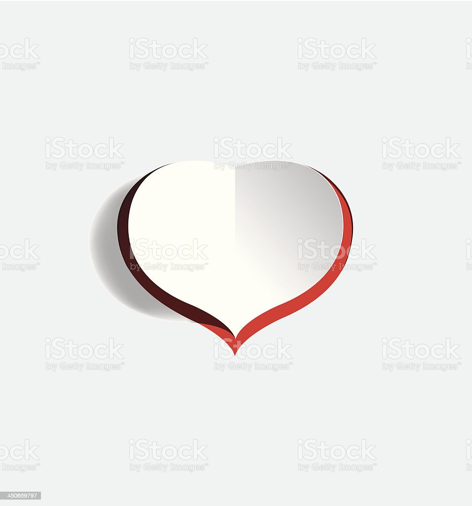 paper heart royalty-free stock vector art