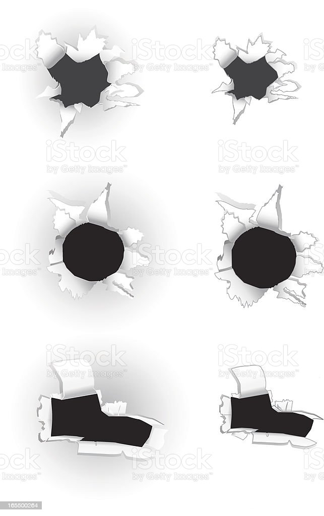 Paper Holes royalty-free paper holes stock vector art & more images of broken