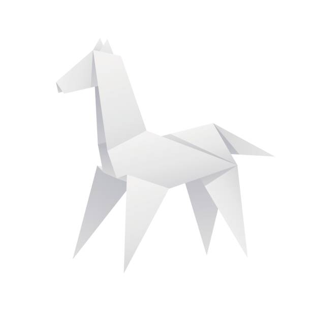 Royalty Free Horse Origami Clip Art Vector Images Illustrations