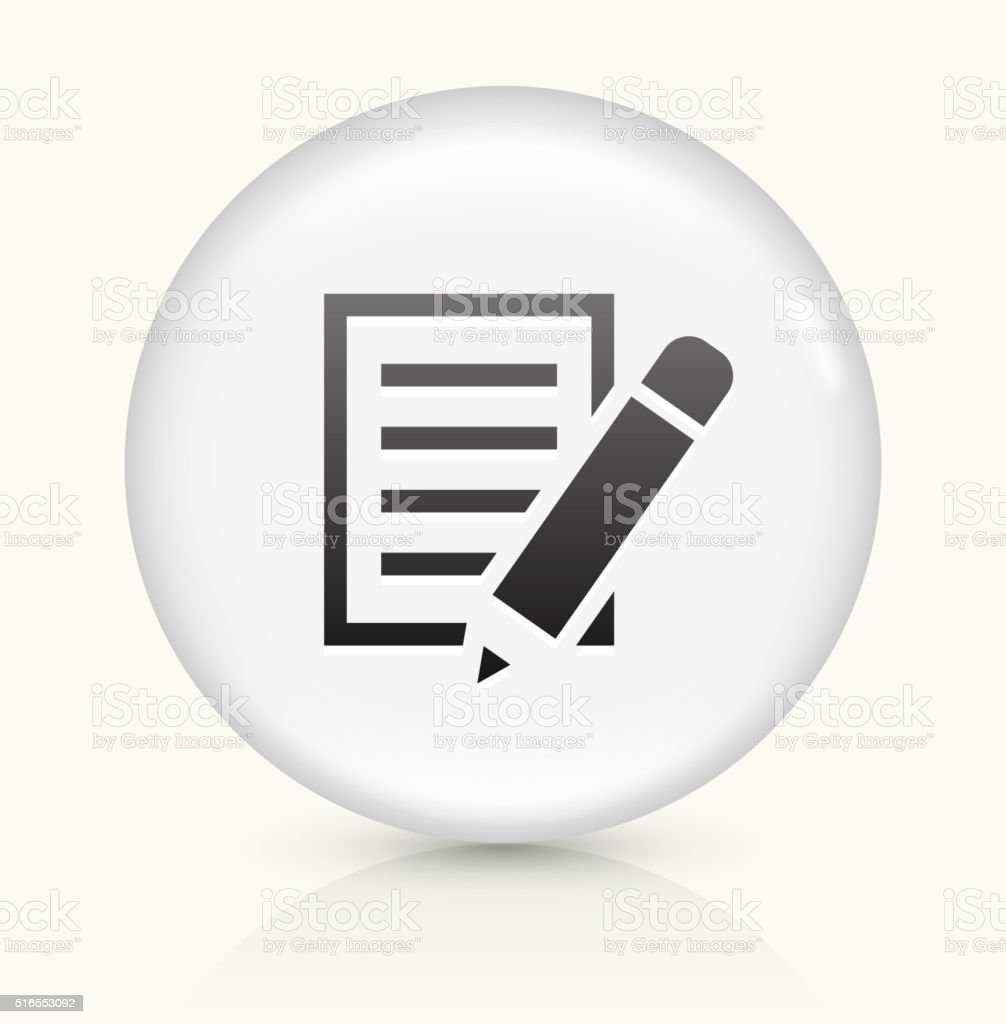 Paper icon on white round vector button vector art illustration