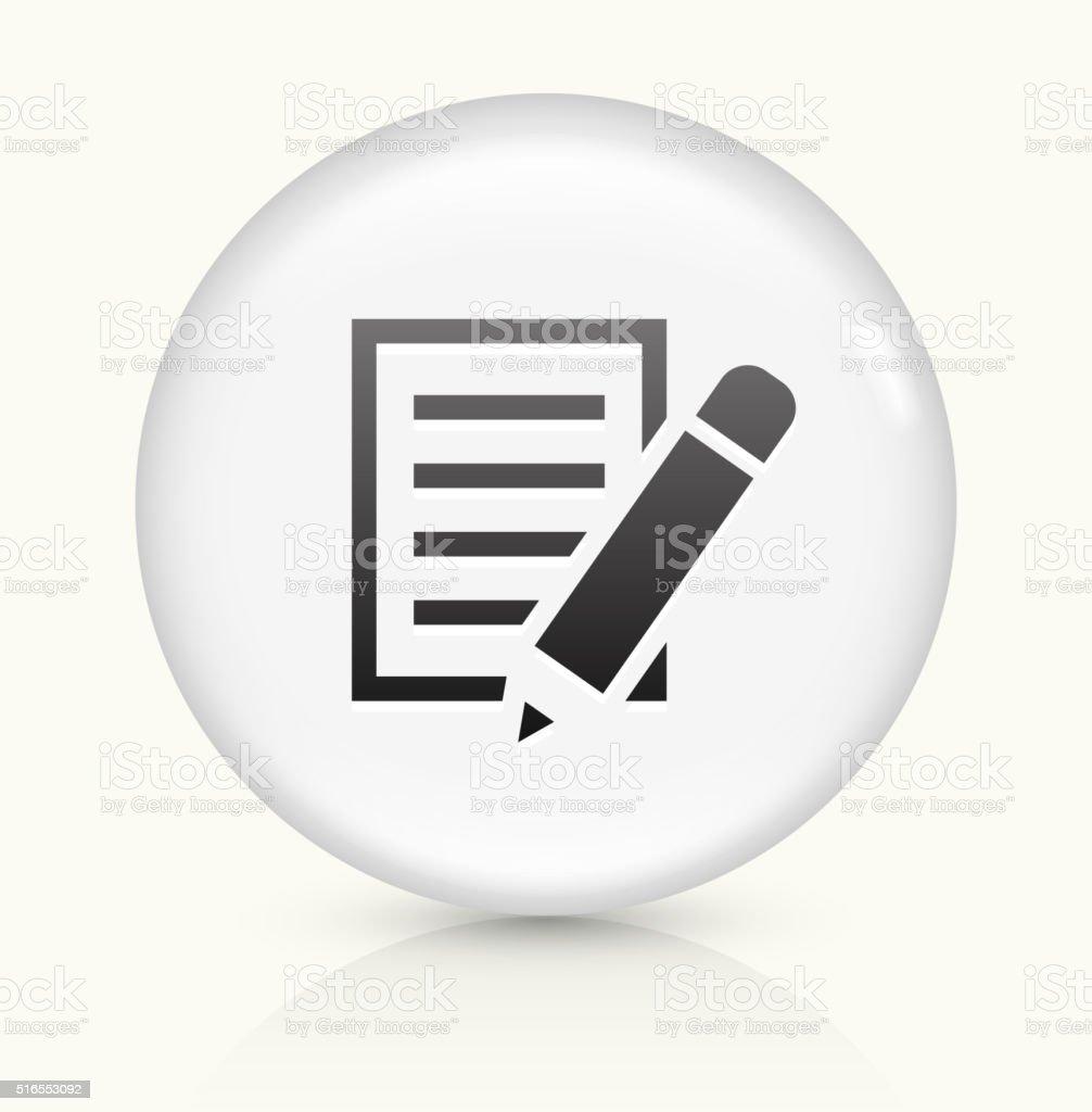 Icône sur papier blanc vecteur rond bouton - Illustration vectorielle