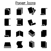 Paper icon set vector illustration graphic design