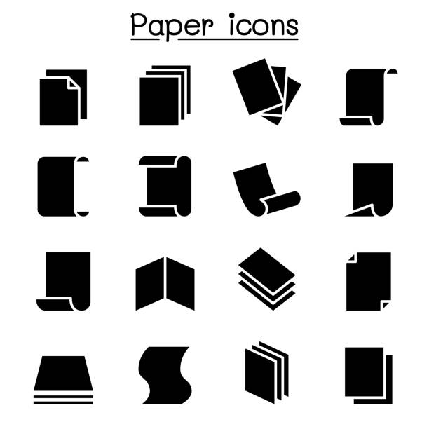 Paper icon set vector illustration graphic design Paper icon set vector illustration graphic design stack stock illustrations
