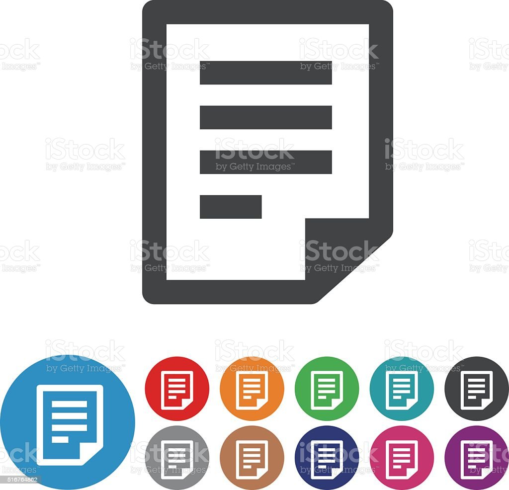 Paper Icons - Graphic Icon Series vector art illustration