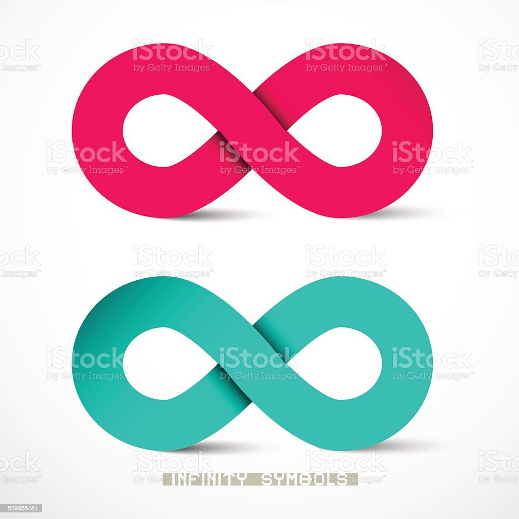 Paper Infinity Symbols Set Vector vector art illustration