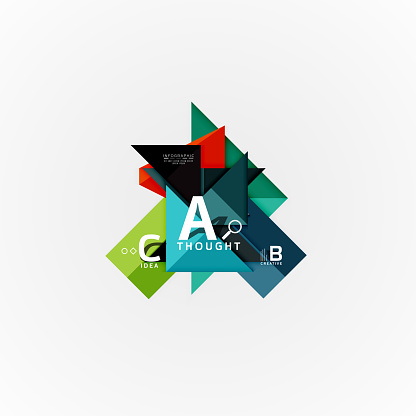 Paper Infographic Banner Template With A B C Options Infographics Elements — стоковая векторная графика и другие изображения на тему www