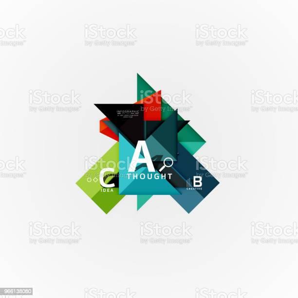 Papper Infographic Banner Mallen Med En B C Alternativ Infographics Element-vektorgrafik och fler bilder på Abstrakt