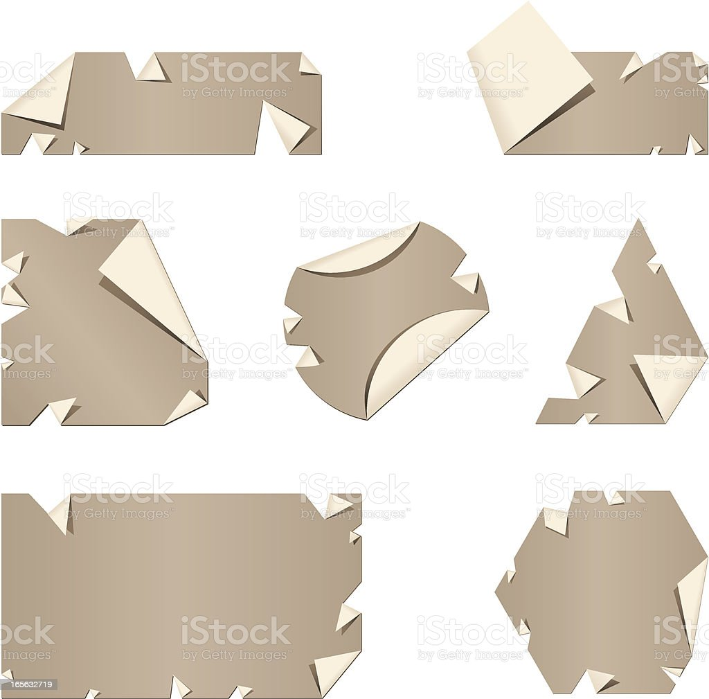 Paper Labels royalty-free stock vector art