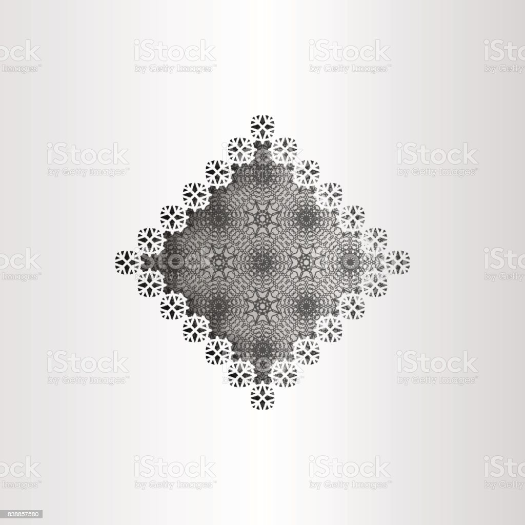 Paper Lace Greeting Card Black White Pattern Winter Decoration ...
