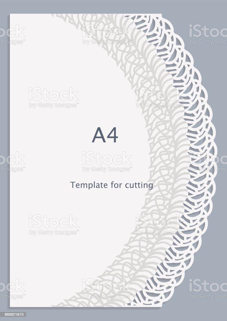 グリーティング カード、白の模様、カットアウト テンプレート、テンプレートお祝い、穿孔パターン、ベクトル A4 ペーパー レース ロイヤリティフリーグリーティング カード白の模様カットアウト テンプレートテンプレートお祝い穿孔パターンベクトル a4 ペーパー レース - かぎ針編みのベクターアート素材や画像を多数ご用意