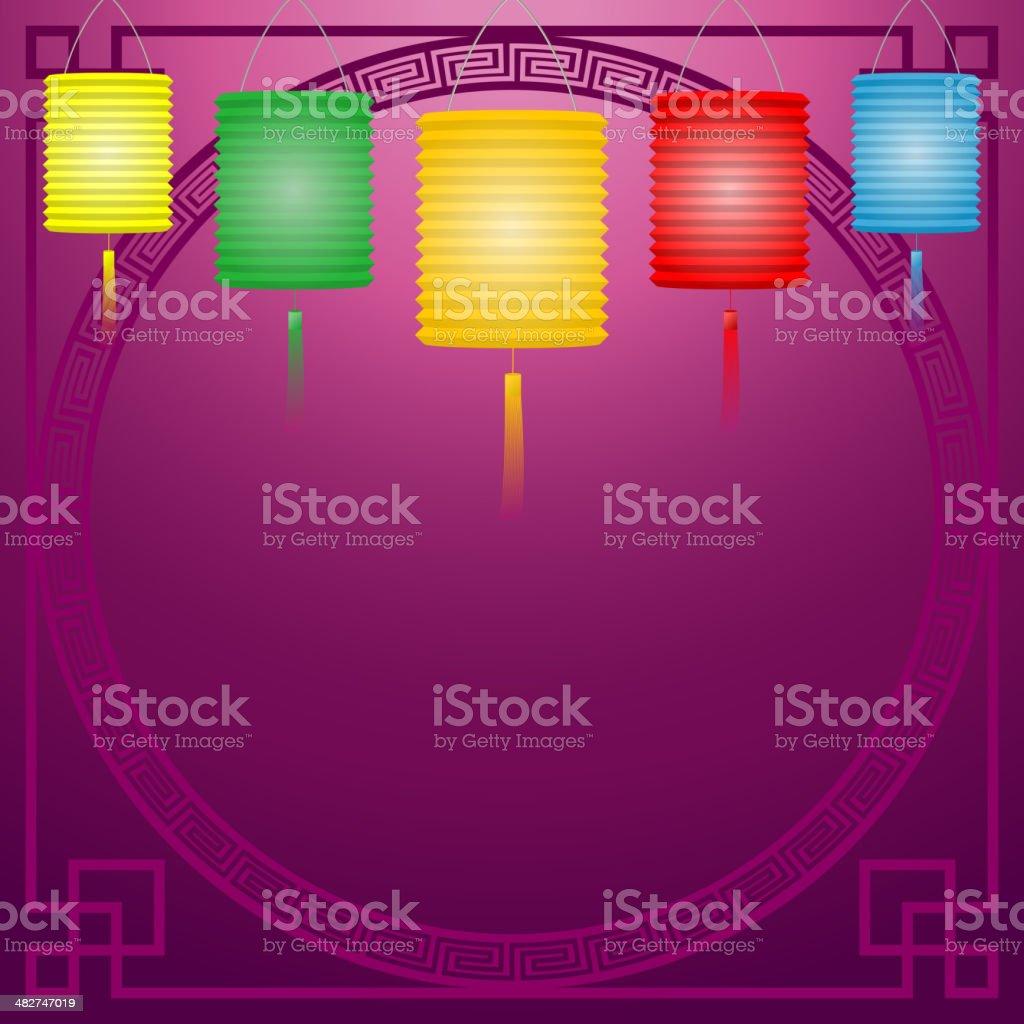 Paper Lantern royalty-free stock vector art
