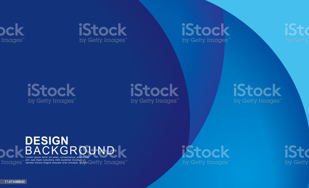 Paper layer circle blue abstract background. Curves and lines use for banner, cover, poster, wallpaper, design with space for text. Paper layer circle blue abstract background. Curves and lines use for banner, cover, poster, wallpaper, design with space for text. Abstract stock vector