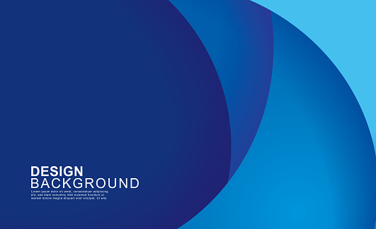 Paper Layer Circle Blue Abstract Background Curves And Lines Use For Banner Cover Poster Wallpaper Design With Space For Text Stock Illustration - Download Image Now