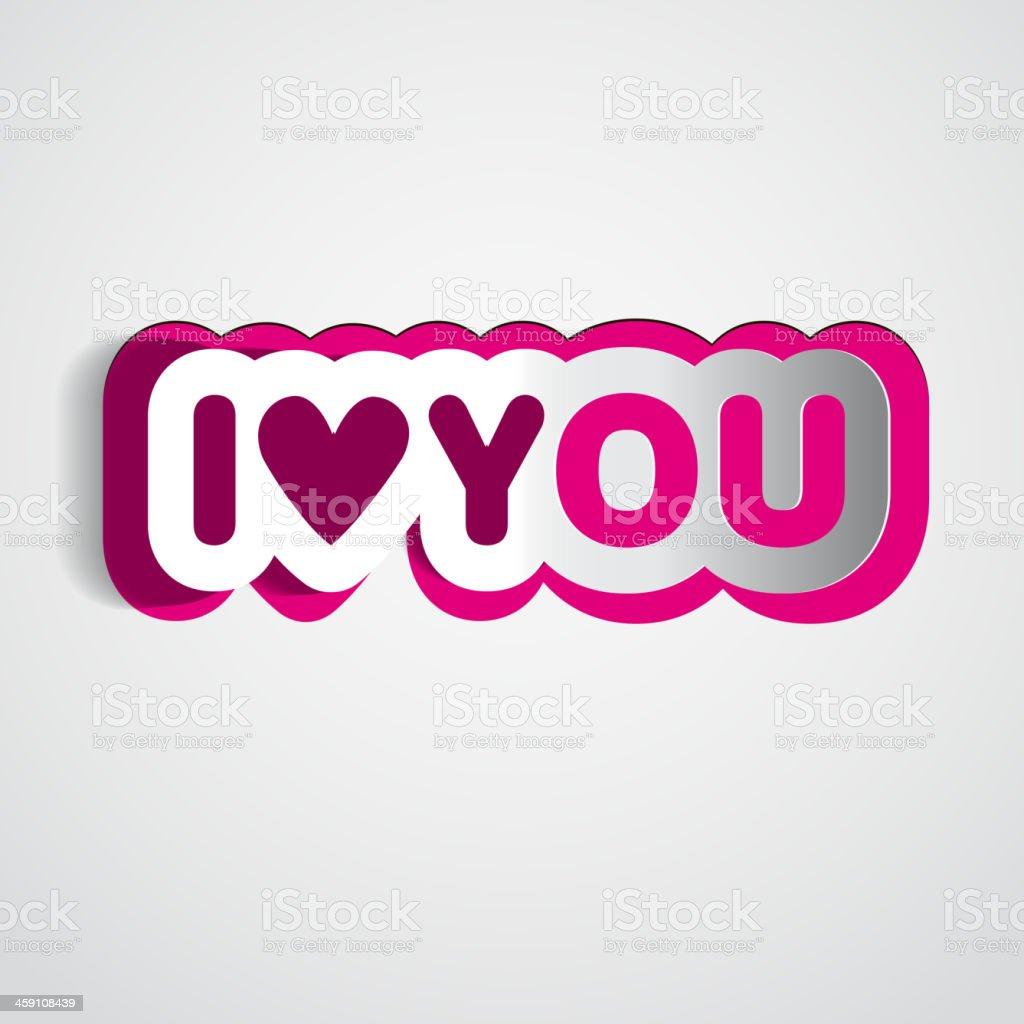 Decorazioni Lettere D Amore lettere di carta con cuorei love you - immagini vettoriali
