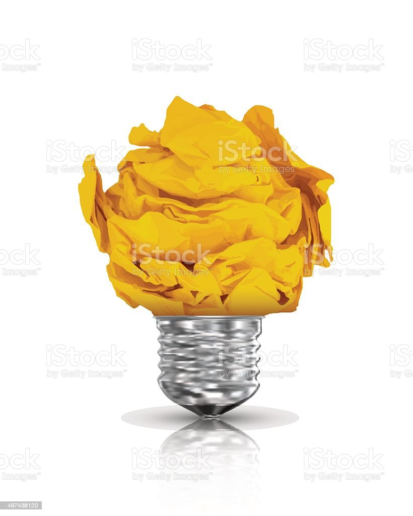 Paper lightbulb. Vector Illustration vector art illustration