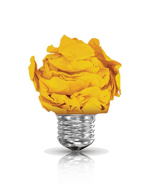Paper lightbulb. Vector Illustration vector art illustration