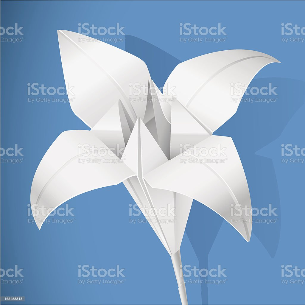 Paper lily royalty-free paper lily stock vector art & more images of art