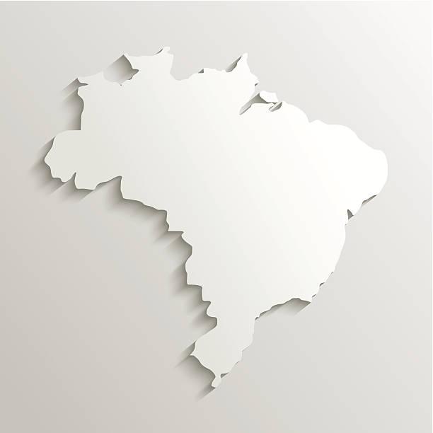 ilustrações, clipart, desenhos animados e ícones de papel mapa do brasil - brazil map