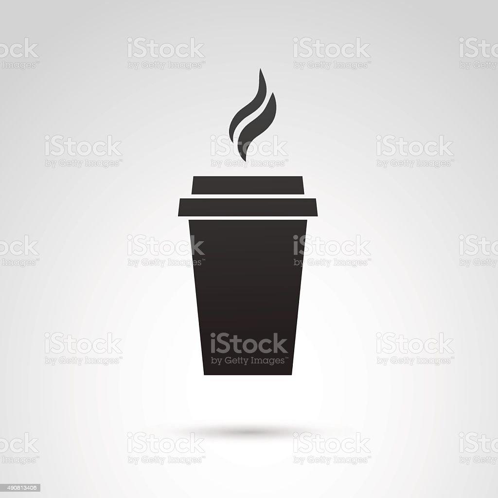 Paper mug icon. vector art illustration
