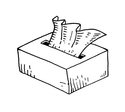 Paper napkins hand drawn illustration