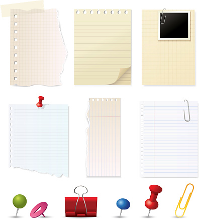 Paper notes and pin collection