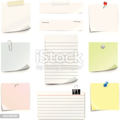 istock Paper Notes 455466087