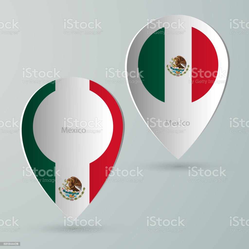 Paper Of Map Marker For Maps Mexico stock vector art 531544428